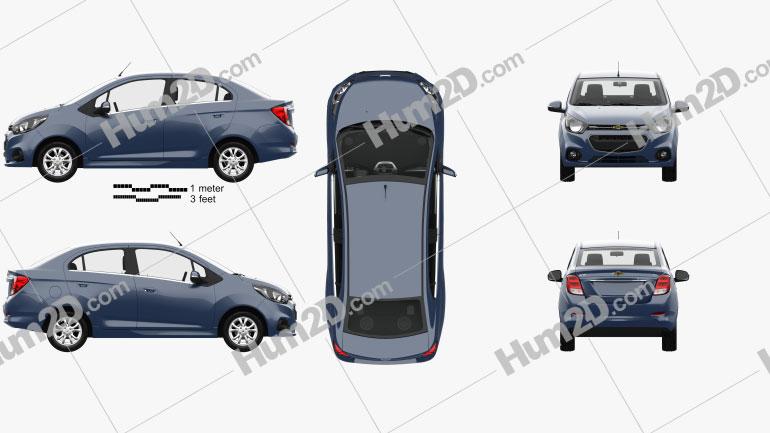 Chevrolet Beat LTZ sedan mit HD Innenraum 2018 Clipart Bild