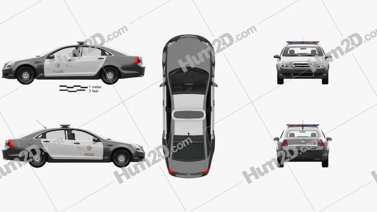 Chevrolet Caprice Polizei mit HD Innenraum 2016 car clipart