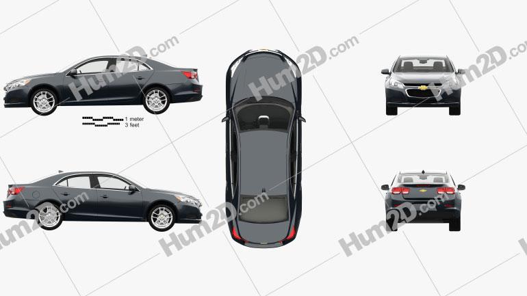 Chevrolet Malibu LT with HQ interior 2014 car clipart