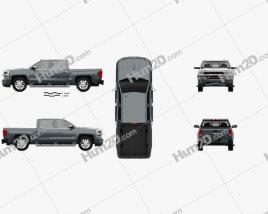 Chevrolet Silverado 1500 Crew Cab Short Box High Country 2018 car clipart