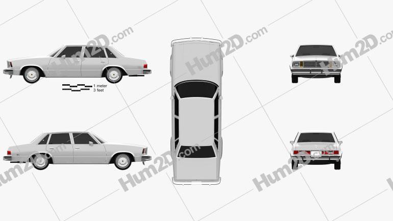 Chevrolet Malibu Classic Sedan 1979 Clipart Image