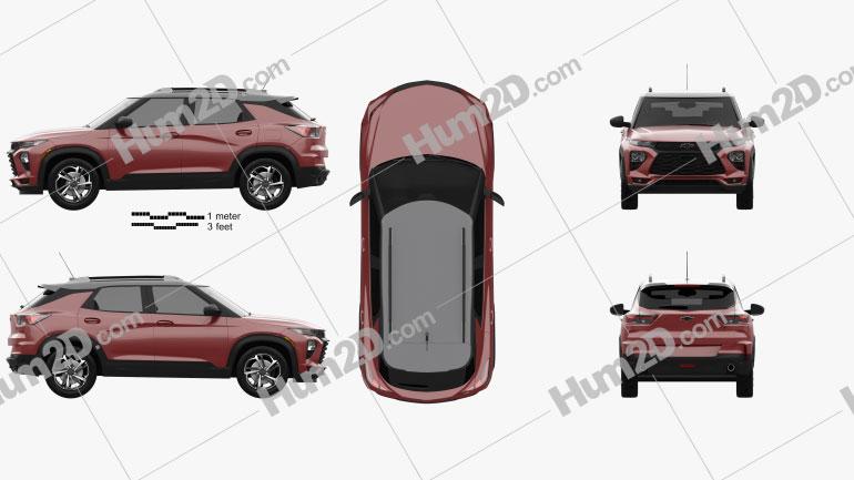 Chevrolet Trailblazer RS 2020 car clipart