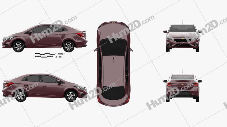 Chevrolet Prisma LTZ 2016 Clipart Image