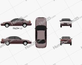 Chevrolet Malibu 1996 car clipart