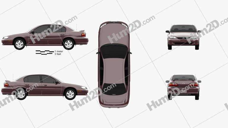 Chevrolet Malibu 1996 Clipart Bild