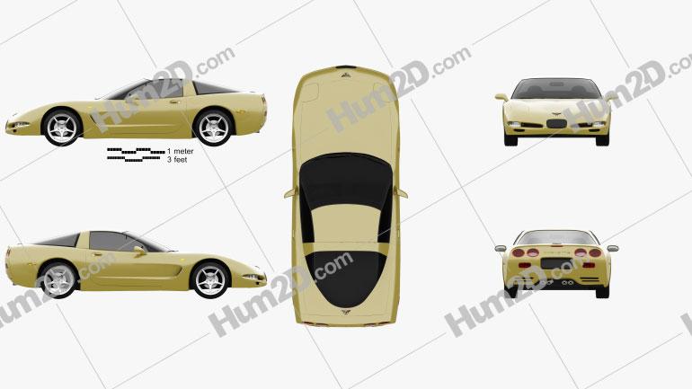 Chevrolet Corvette coupe 1997 car clipart