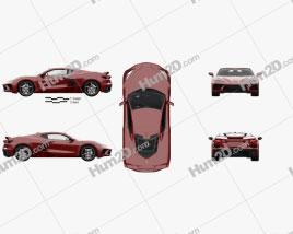 Chevrolet Corvette Stingray with HQ interior and Engine 2020