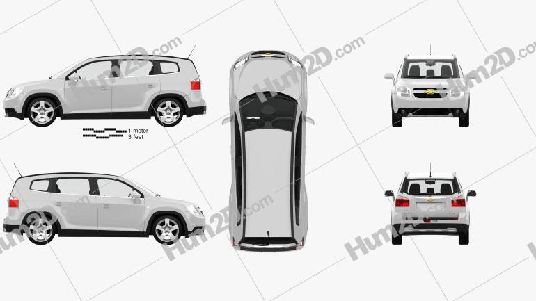 Chevrolet Orlando with HQ interior 2011 car clipart