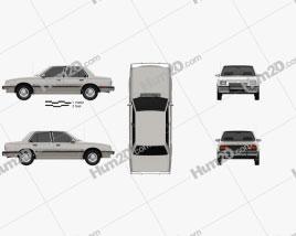 Chevrolet Cavalier sedan 1982 car clipart
