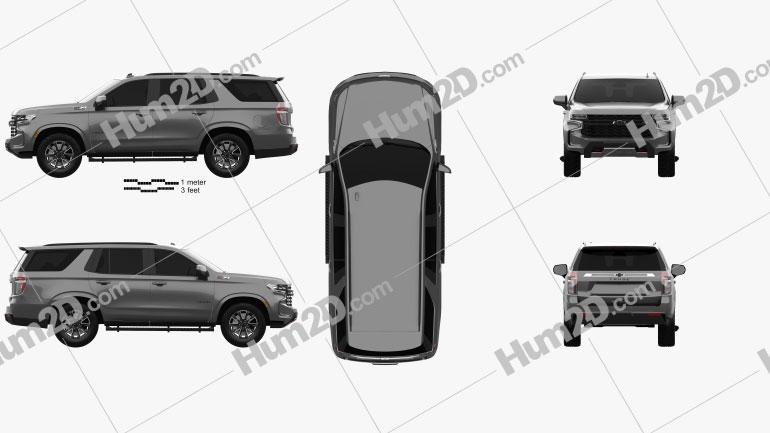 Chevrolet Tahoe Z71 2020 car clipart