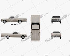 Chevrolet El Camino Custom 1966 car clipart