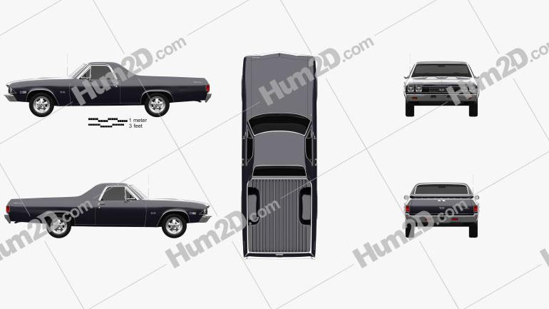 Chevrolet El Camino SS 396 1968 car clipart