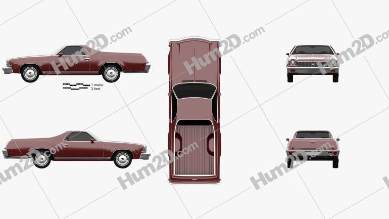 Chevrolet El Camino 1973 car clipart