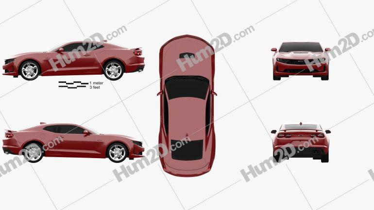Chevrolet Camaro coupe LT1 2020 car clipart