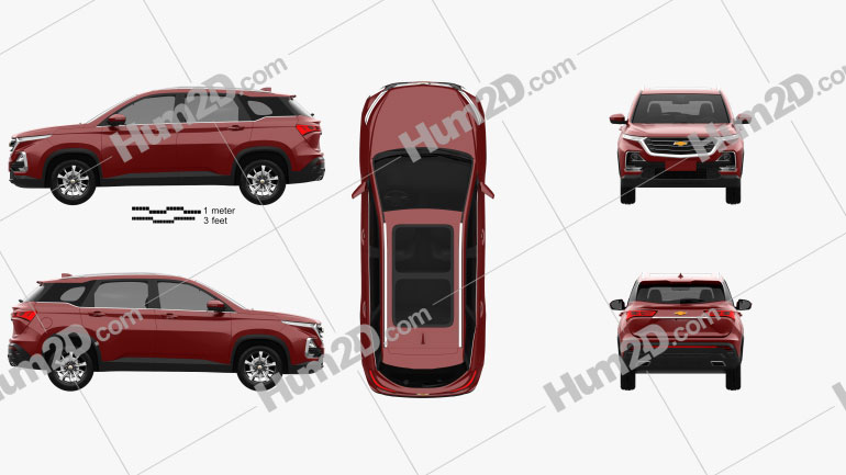 Chevrolet Captiva TH-spec 2019 Clipart Image