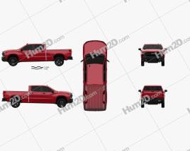 Chevrolet Silverado Crew Cab Standard Bed LT Z71 Trailboss 2018