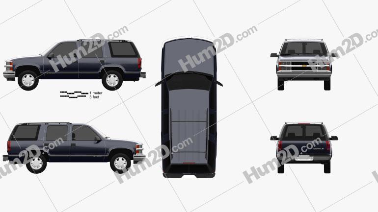 Chevrolet Tahoe LT 4-door 1995 Clipart Image