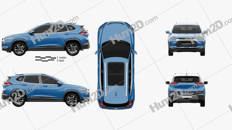 Chevrolet Tracker Premier 2020 car clipart