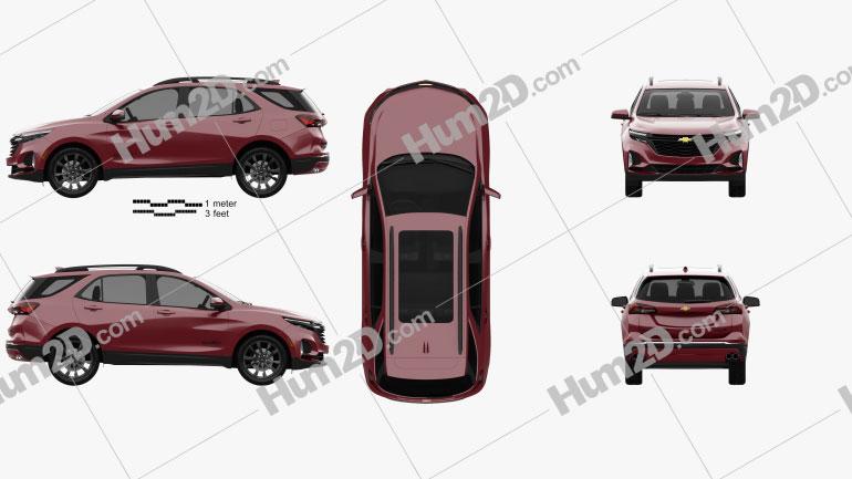 Chevrolet Equinox RS 2020 car clipart