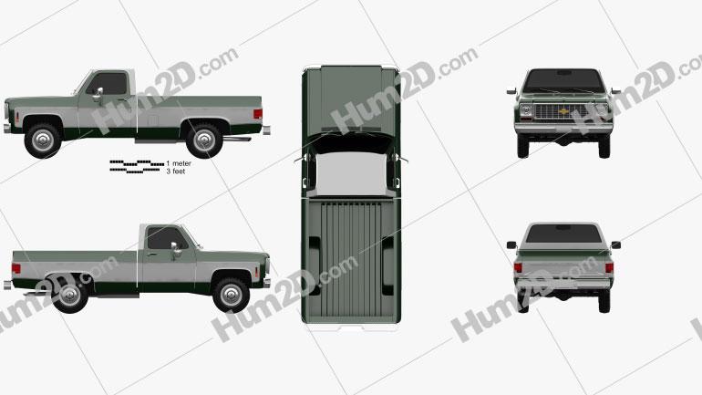 Chevrolet K10 Pickup 1974 car clipart