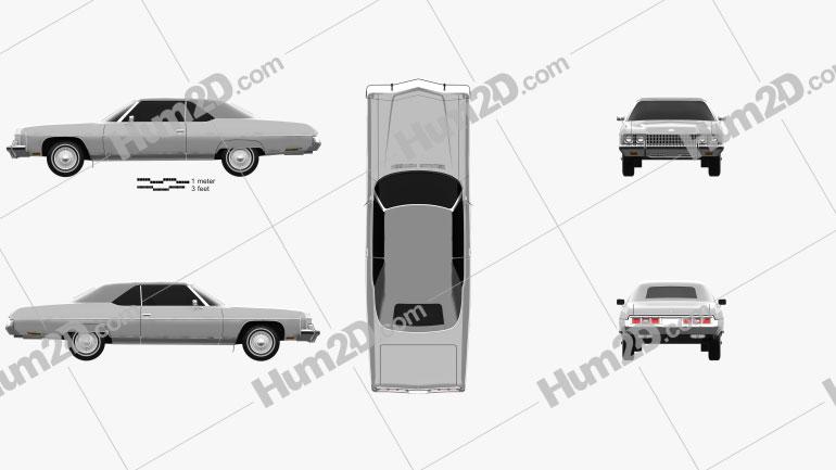Chevrolet Caprice convertible 1973 car clipart