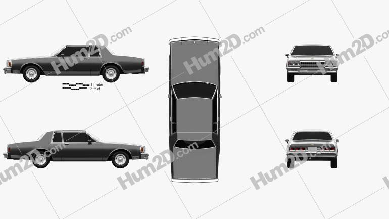 Chevrolet Caprice Landau 1985 car clipart