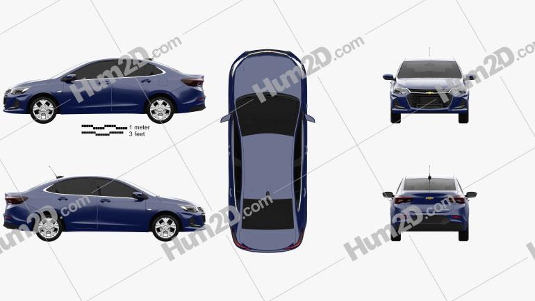 Chevrolet Onix Plus Premier sedan 2019 car clipart