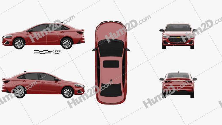 Chevrolet Monza RS 2020 car clipart
