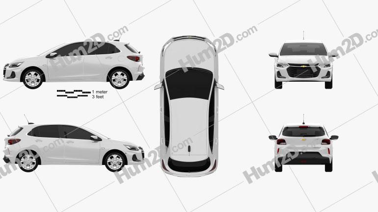 Chevrolet Onix Premier hatchback 2019 car clipart