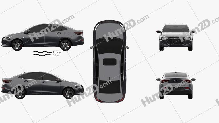 Chevrolet Onix Plus Redline CN-spec sedan 2019 car clipart