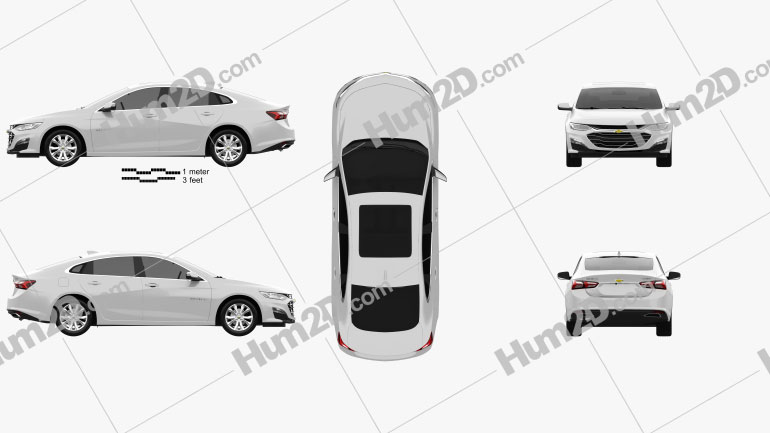 Chevrolet Malibu CN-spec 2020 car clipart