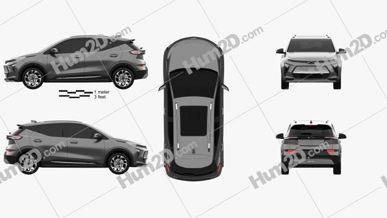 Chevrolet Bolt EUV 2022 car clipart