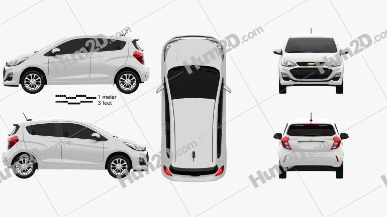Chevrolet Spark 2019 car clipart