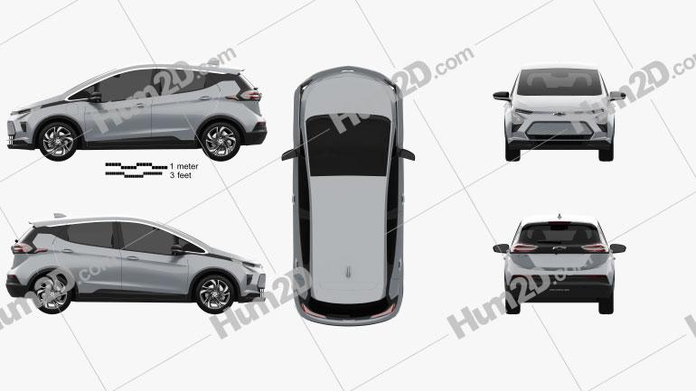 Chevrolet Bolt EV 2021 car clipart