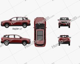 Chevrolet Captiva with HQ interior 2019 car clipart