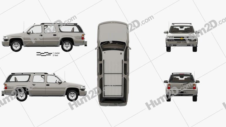 Chevrolet Suburban LT with HQ interior 2005 car clipart