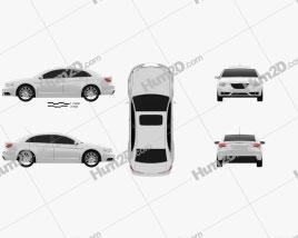 Chrysler 200 sedan 2011 car clipart