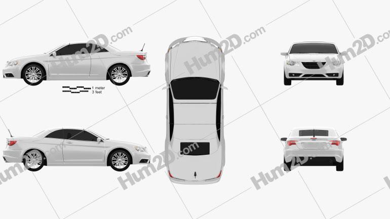 Chrysler 200 Convertible 2011 Clipart Image