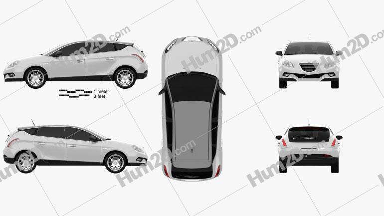 Chrysler Delta 2012 car clipart