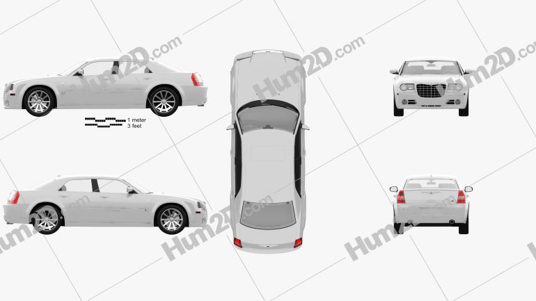 Chrysler 300C sedan 2009 car clipart