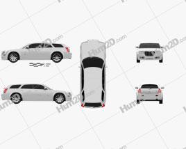 Chrysler 300C wagon 2009 Clipart