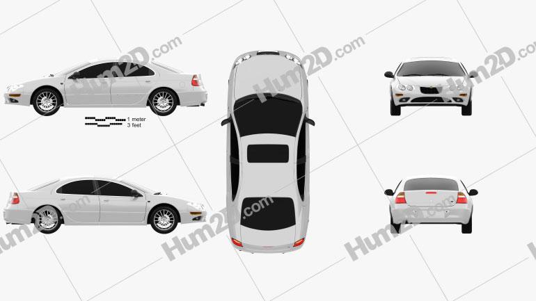 Chrysler 300M 2004 car clipart
