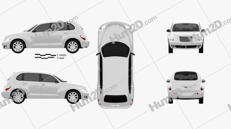 Chrysler PT Cruiser 2010 car clipart