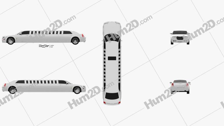 Chrysler 300C limousine 2009 car clipart