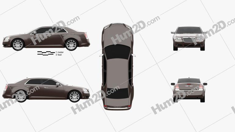 Chrysler 300 C Executive Series 2012 car clipart