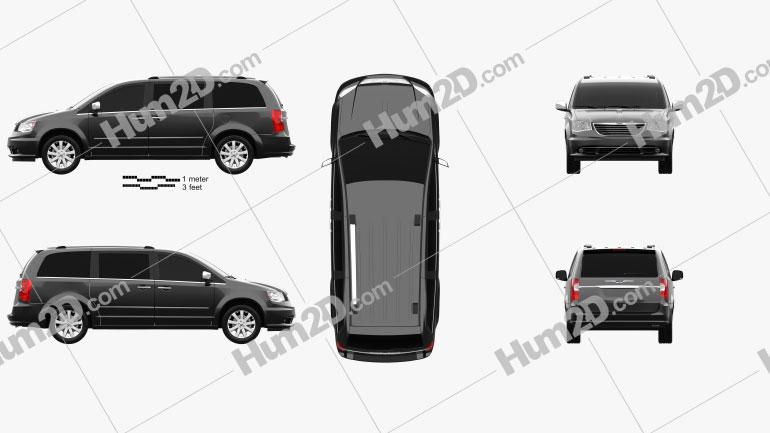 Chrysler Grand Voyager 2011 clipart