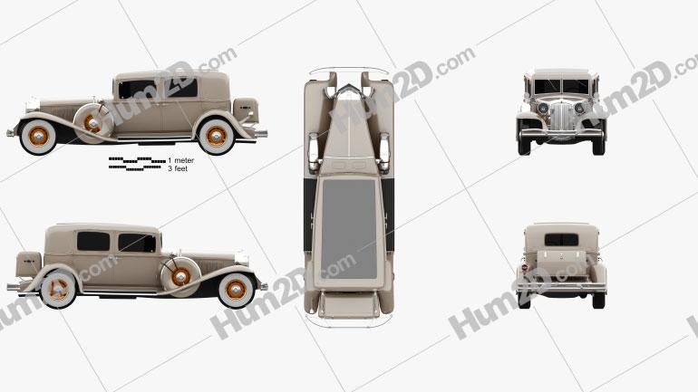 Chrysler Imperial Close Coupled Sedan 1931 car clipart