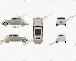 Chrysler Imperial Airflow 1934 car clipart