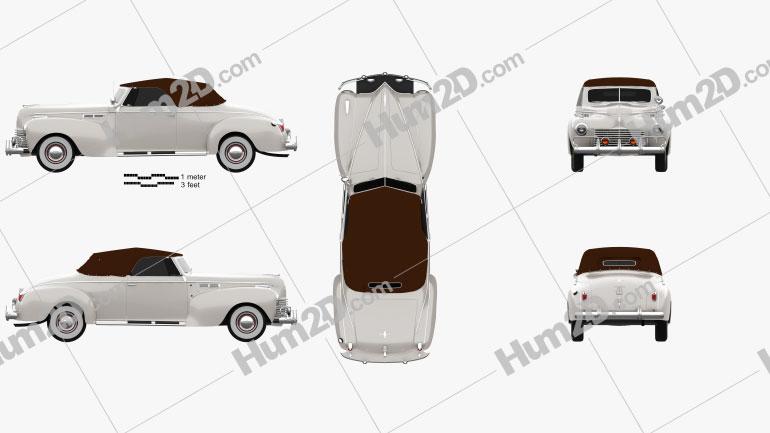 Chrysler New Yorker Highlander 1940 car clipart