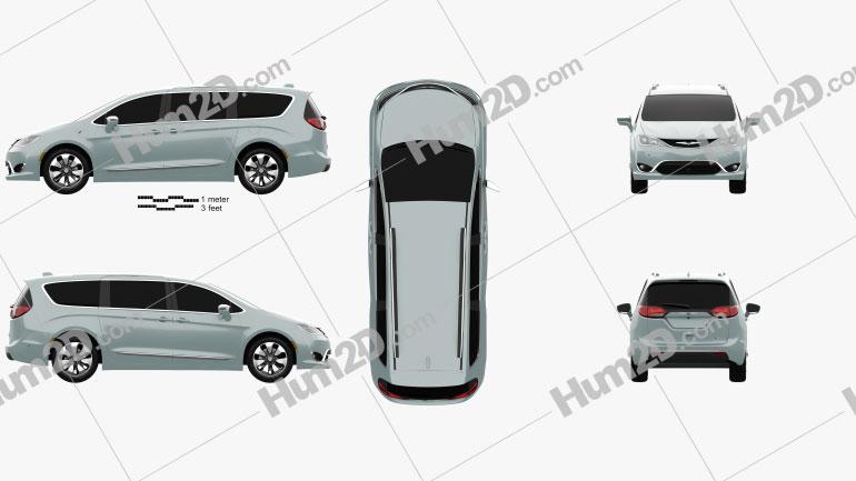 Chrysler Pacifica Hybrid 2017 clipart